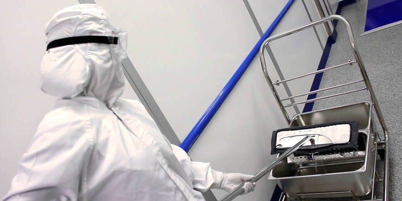 cleanroom cleaning mop bucket